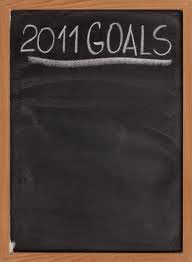 2011 Goals Blackbaord